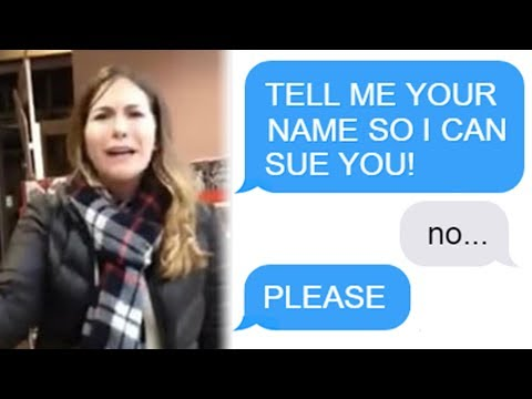 """r/Choosingbeggars """"TELL ME YOUR NAME SO I CAN SUE YOU!"""" Funny Reddit Posts"""