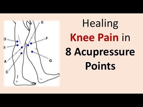 Healing knee pain in 8 acupressure points - YouTube