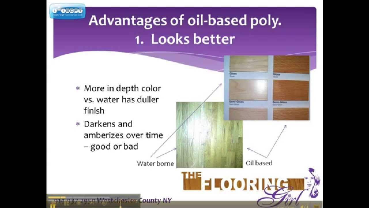 Is water based polyurethane vs oil based - Oil Vs Water Based Polyurethane Which Is Better For Refinishing Hardwood Part 1 Oil Based Youtube