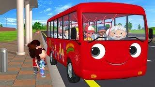 детские песенки  Колёса у автобуса  мультфильмы для детей  Литл Бэйби Бум