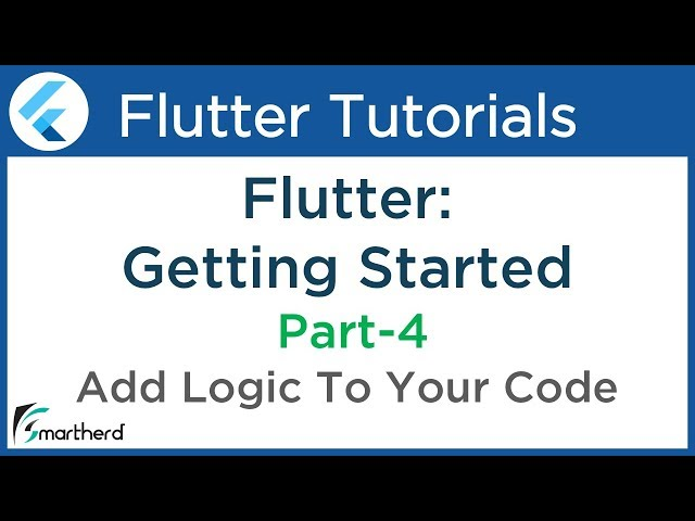 #1.6 Flutter Apps Tutorial for Beginners: Add logic to your app PART-4