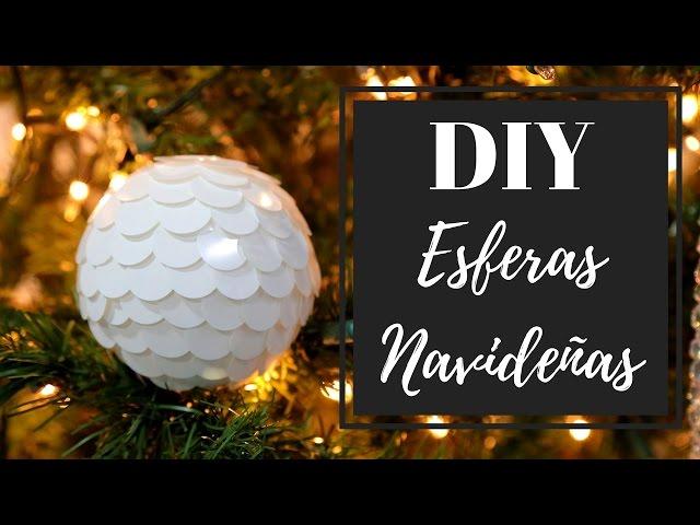 DIY ESFERAS NAVIDEÑAS | Navidad con Pabla en casa