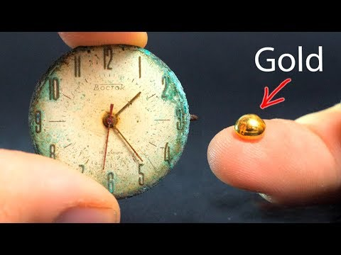 HOW TO GET GOLD FROM OLD WATCH [EXPERIMENT]