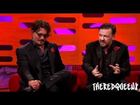 Johnny Depp & Ricky Gervais on the Graham Norton show [2/3]