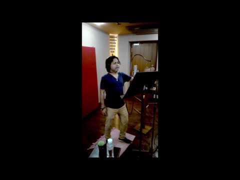 Ajaramara Movie Song Recording Singing by  Kailash kher ,Music direction by  Rajkishor Rao