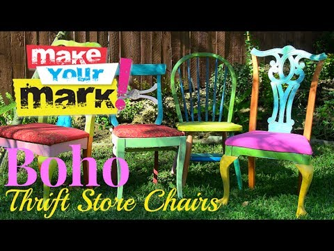 How to: Boho (Thrift Store) Chairs DIY