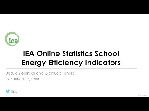 IEA Webinar : Energy Efficiency Indicators