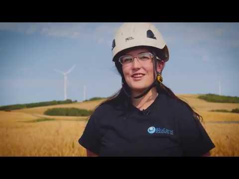 WATCH On the job with Kyla Bakke, a wind turbine technician in