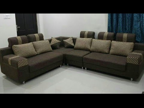 MAKING LATEST SIMPLE AND STYLISH CORNER SOFA DESIGN FOR LIVING ROOM - 2019 - YouTube