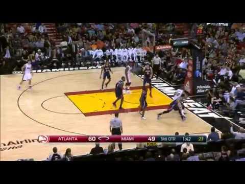 Michael Beasley Poster Dunk On Mike Muscala | Hawks vs Heat | February 28, 2015 | NBA 2014-15 Seaso