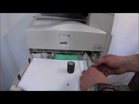 Repeat PAPER JAM Feed Roller COPIER RICOH MP161 MP201 TUTORIAL by