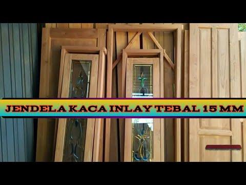 Jendela kaca inlay motif terbaru | model pintu dan jendela ...