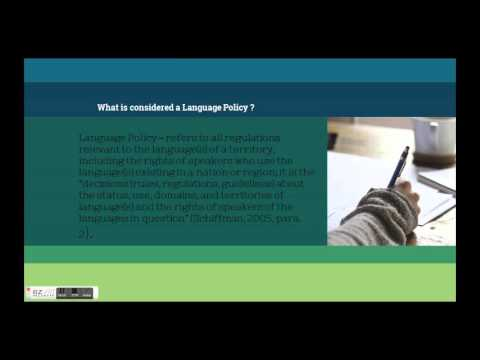 Language Policy and Rights for Indigenous Languages -Creole Speaking Caribbean