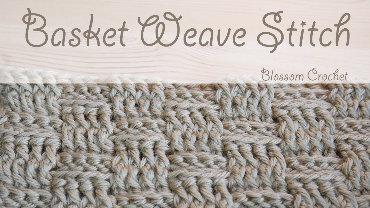 Super easy crochet: Basket Weave (wash cloths / blankets) - YouTube
