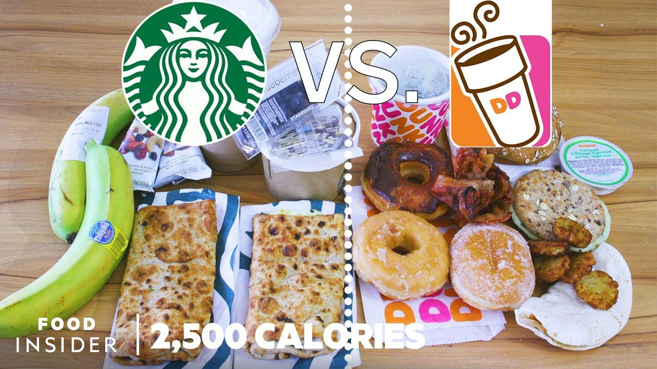 Starbucks Breakfast vs Dunkin' Donuts Breakfast | 2,500 Calories