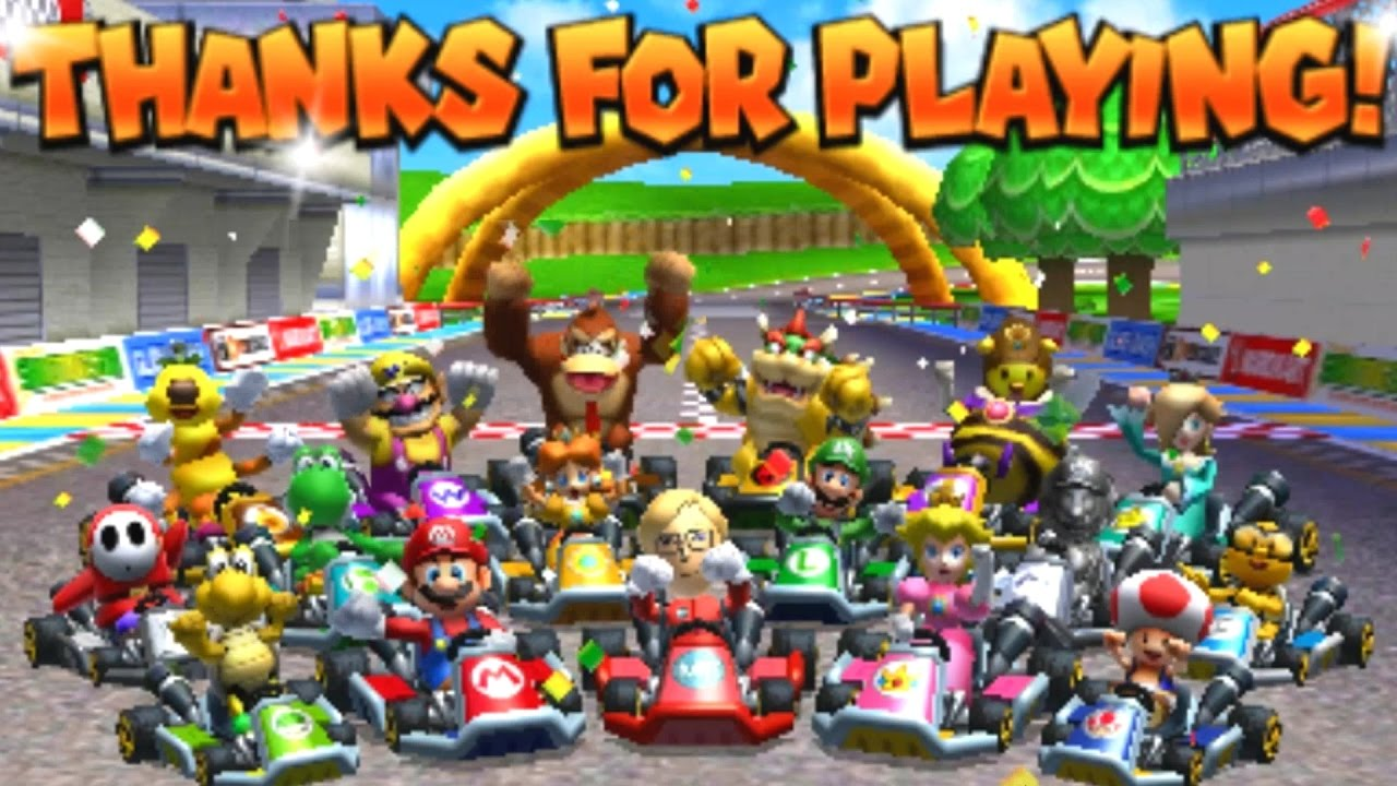mario kart 7 all tracks 150cc race gameplay
