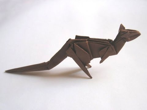 Old Origami Kangaroo By Stephen Weiss Part 1 Of 2 Youtube