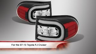 07-13 Toyota FJ Cruiser Light Bar LED Tail Lights
