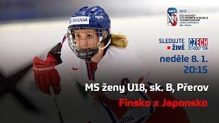MS ženy U18, Finsko – Japonsko (sk. B, Přerov)