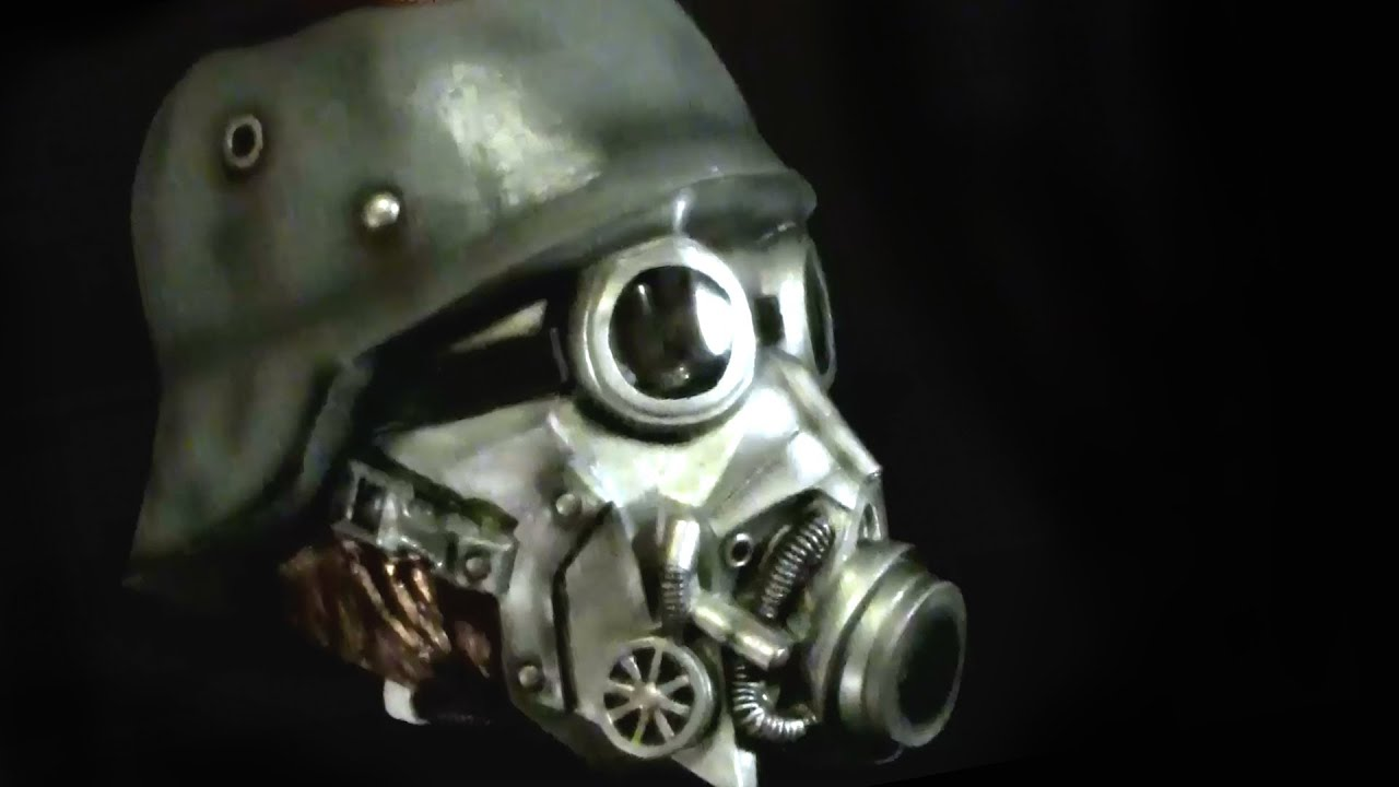 Chemical Warfare Gasmask Latex Halloween Mask