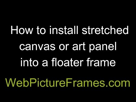 Floater Frame For Canvas