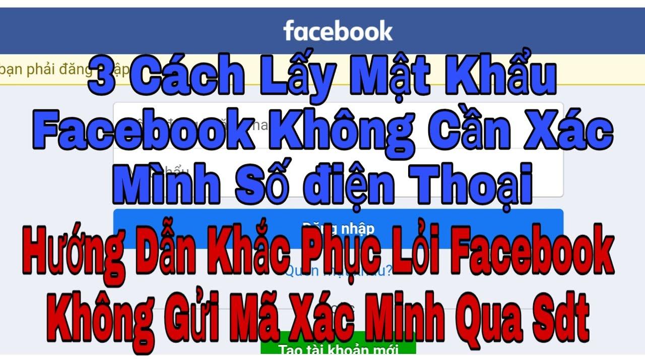 Facebook Cách Xác Minh Tài Khoản Không Cần số Điện thoại Gmail