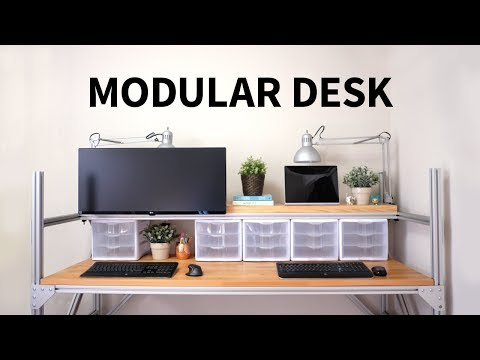 Modular desk using t-slot aluminum | How to