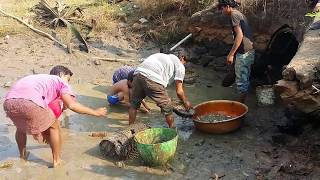 Wow!!! fish Catching In Sewers - Cambodia fishing 2018