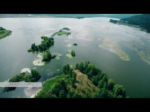 Flying Over the Rivers and Lakes, the Urals, Siberia, Russia