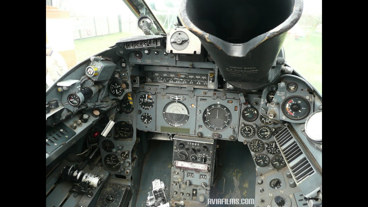 electric lightning jet fighter cockpit