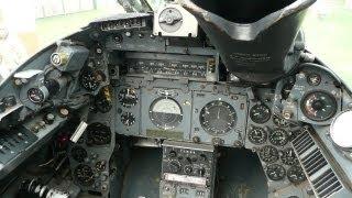 Electric Lightning jet fighter cockpit