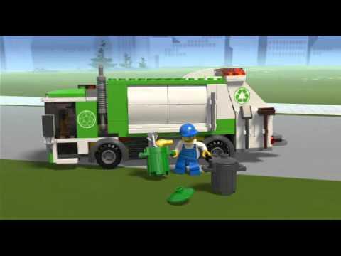 Lego city cami n de basura 4432 en eurekakids youtube - Lego camion de police ...