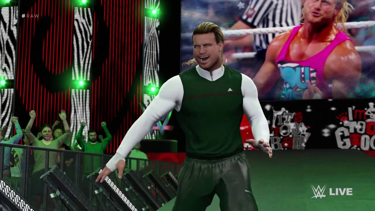 WWE 2K16 Dolph Ziggler Spirit Squad Attire - YouTube