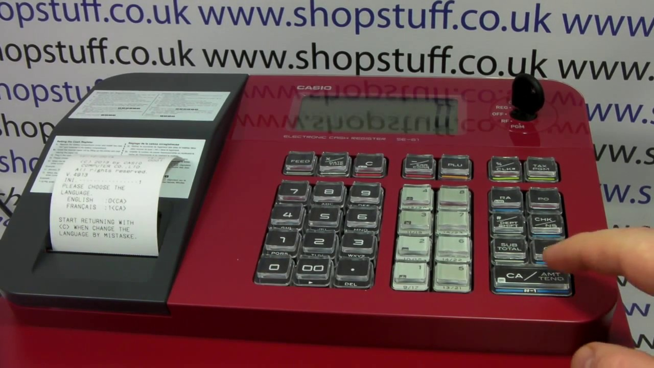 how to clear flashing zero from casio se g1 cash register