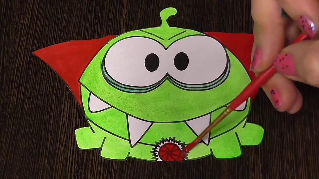 Nom nom coloring pages coloring coloring pages - Coloring For Kids Om Nom Cute Monster Youtube