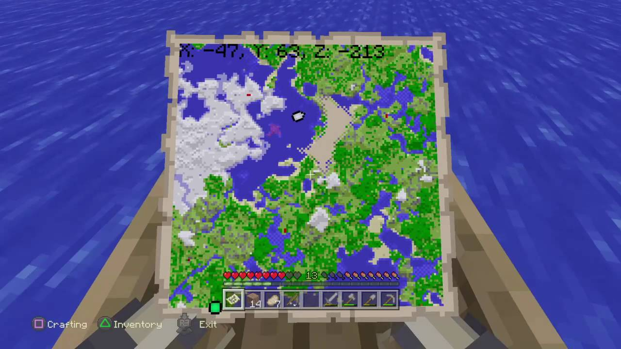 MinecraftEXPLORING THE WHOLE MAP  YouTube