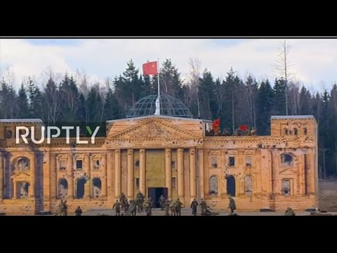 LIVE: Dramatic reconstruction of last days of WWII takes place outside Moscow