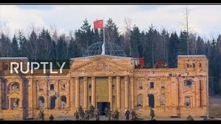 LIVE  Dramatic reconstruction of last days of WWII takes place outside Moscow