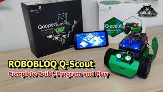 Best Robots for Kids Robobloq Q-Scout Programmable Coding Smart Robot build