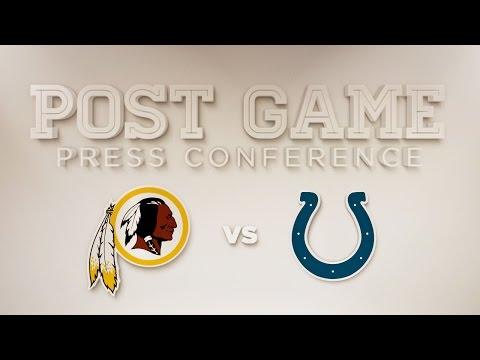 Redskins vs. Colts Colt McCoy Post Game Press Conference
