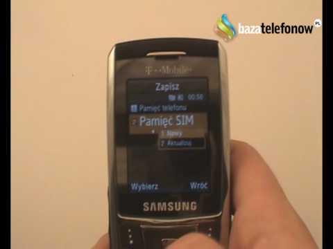 Prezentacja telefonu Samsung SGH-D900i