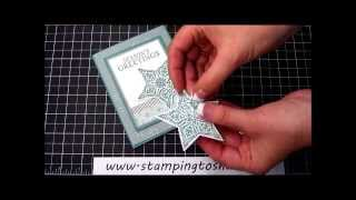 Stampin' Up! Bright & Beautiful Over Lucky Stars on Vellum