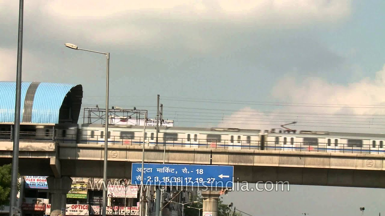 Noida sector 18 metro station near The Great India Place mall
