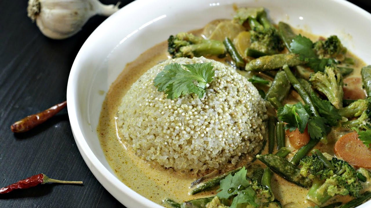 Frozen Vegetable Thai Curry without chopping anything!