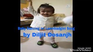 Diljit's little fan dancing on Lamborghini