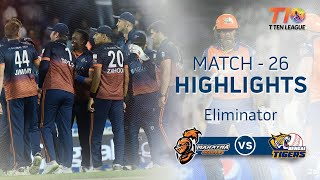 Match 26 Eliminator Match: Maratha Arabians vs Bengal Tigers, T10 League season 2