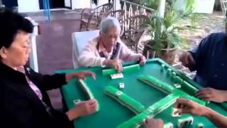 Elderly Playing Mahjong