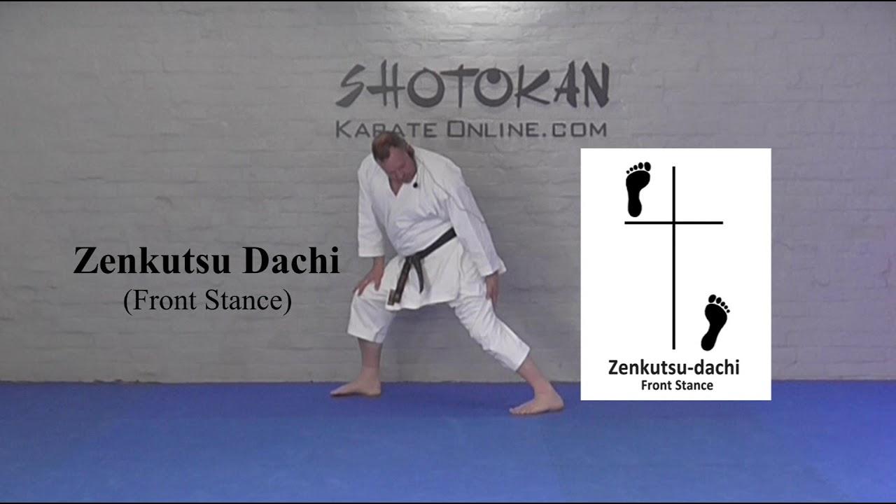 Shotokan Karate Stances Zenkutsu Dachi Youtube