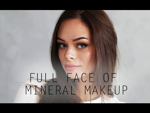FULL FACE OF MINERAL MAKEUP / BAREMINERALS & GLO MINERALS