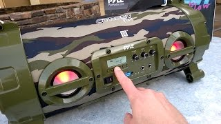 Review:  Pyle Street Flow Bluetooth Speaker PBMSPG120CM Boombox PBMSPG130BK